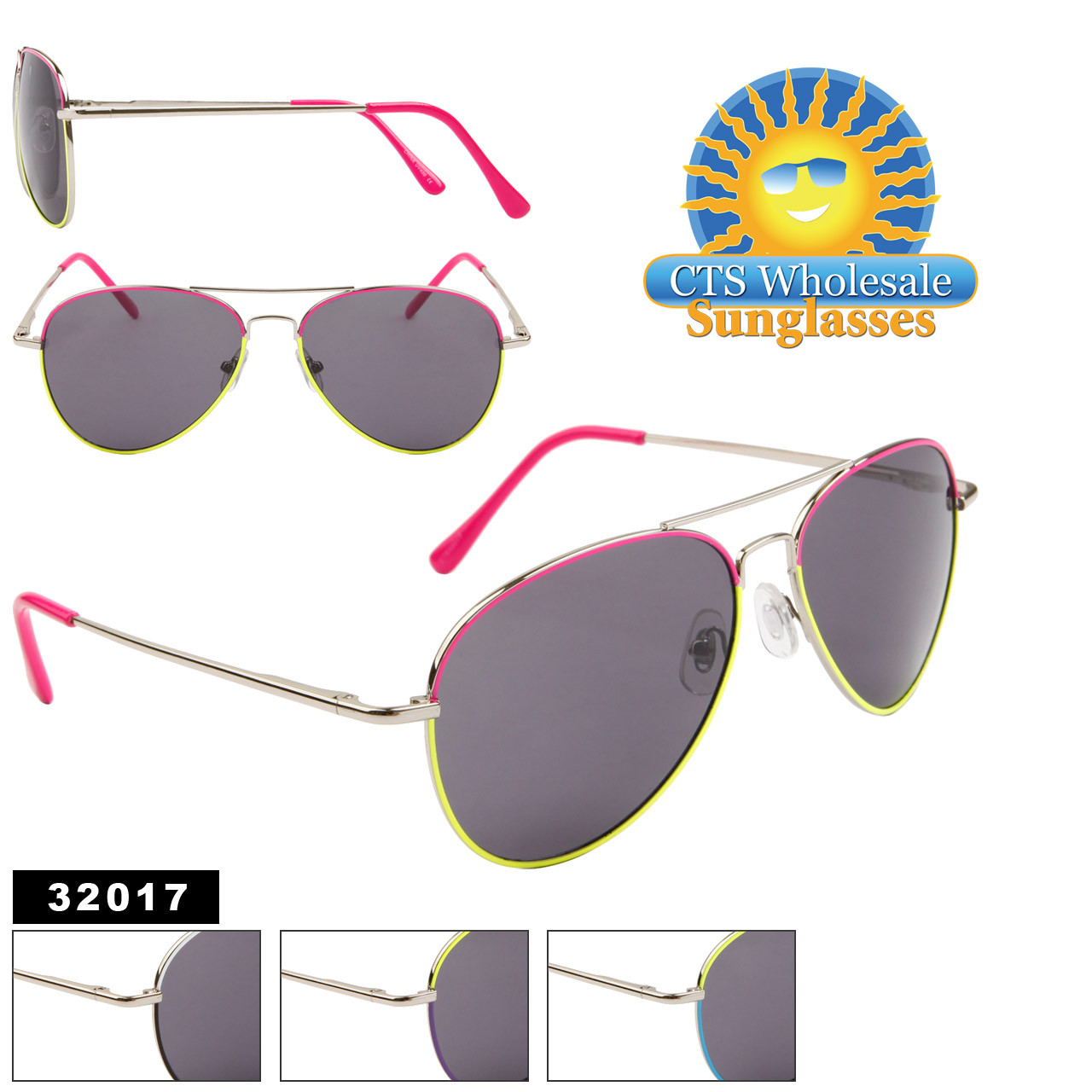 Aviator Sunglasses by the Dozen - Style #  32017