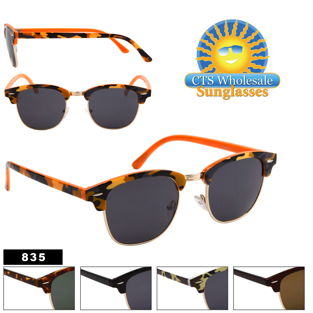 Wholesale Sunglasses by the Dozen - Style # 835
