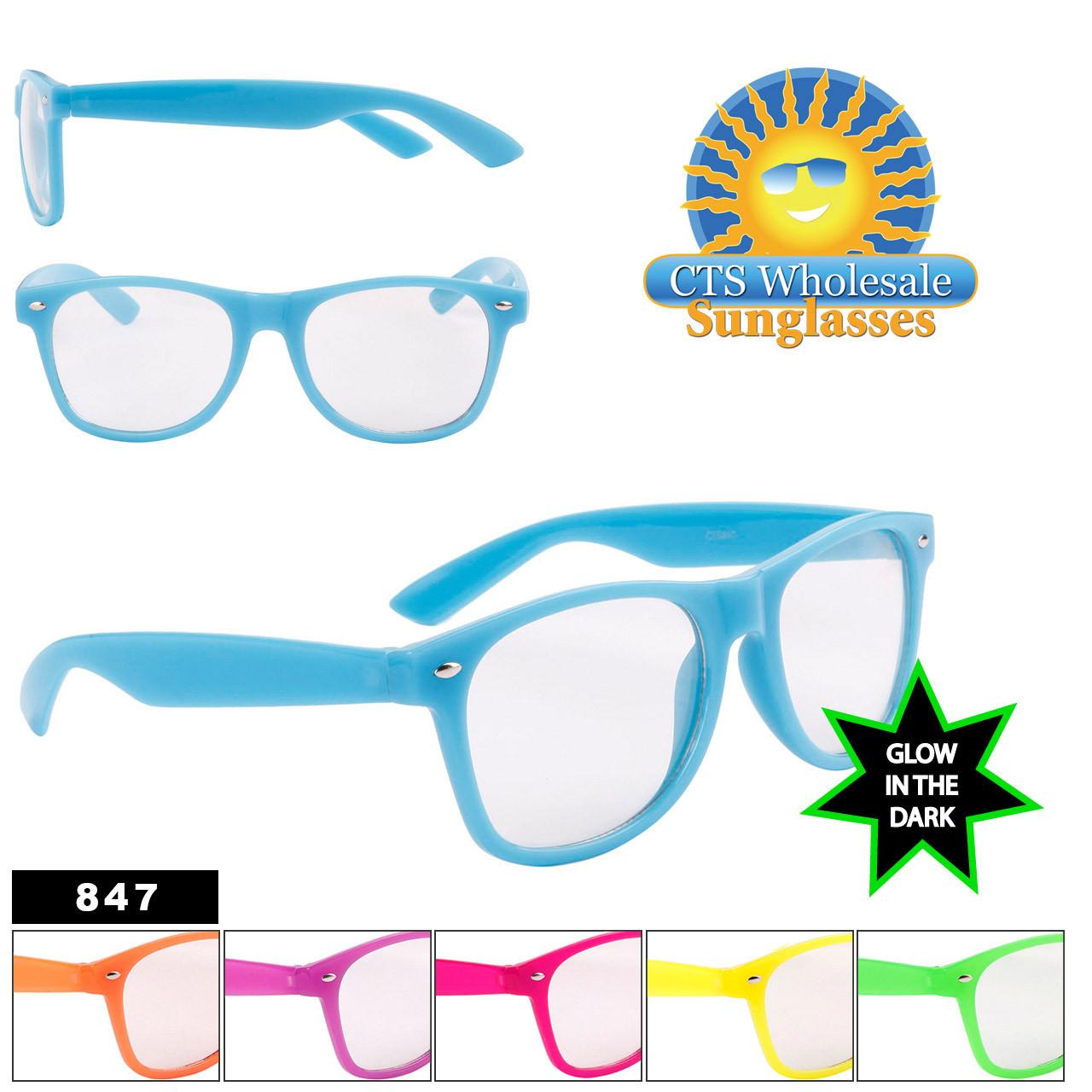 Glow in the Dark California Classics Sunglasses Wholesale - Style #847