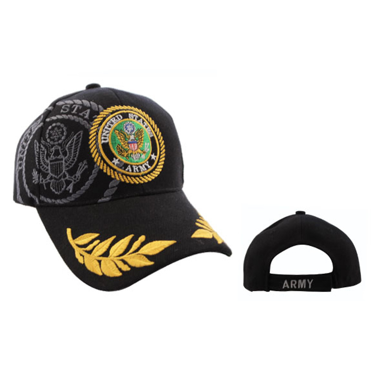 Wholesale Baseball Cap C577 (1 pc.) United States Army Black