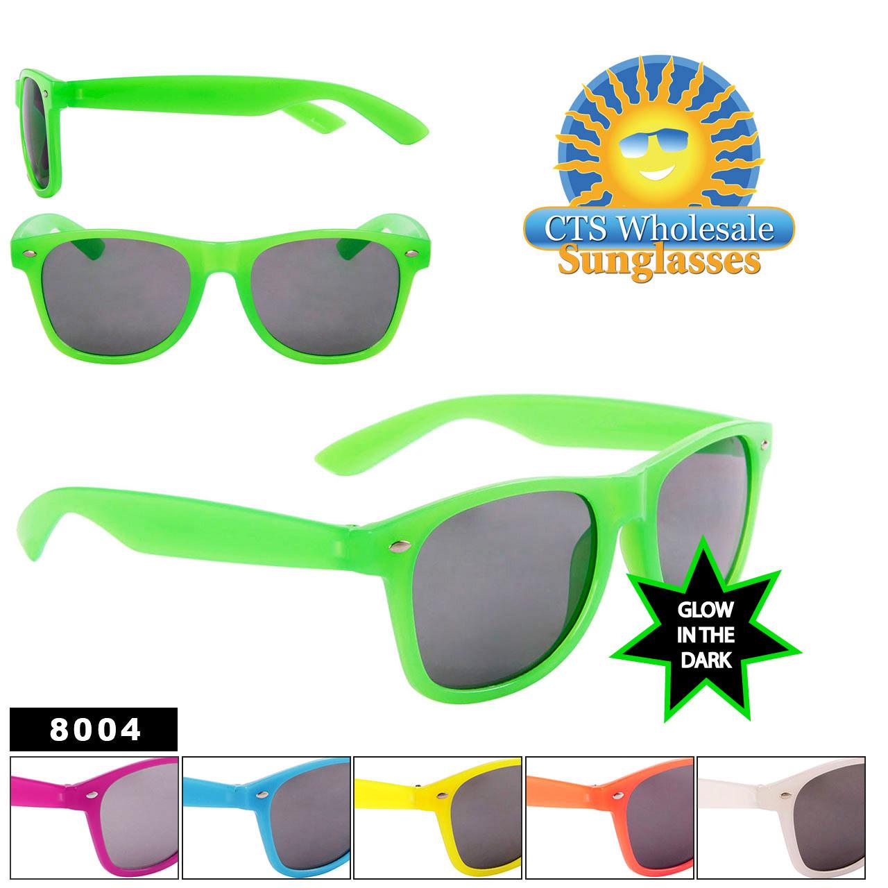 Wholesale Glow In The Dark Sunglasses - Bulk California Classics - Style # 8004