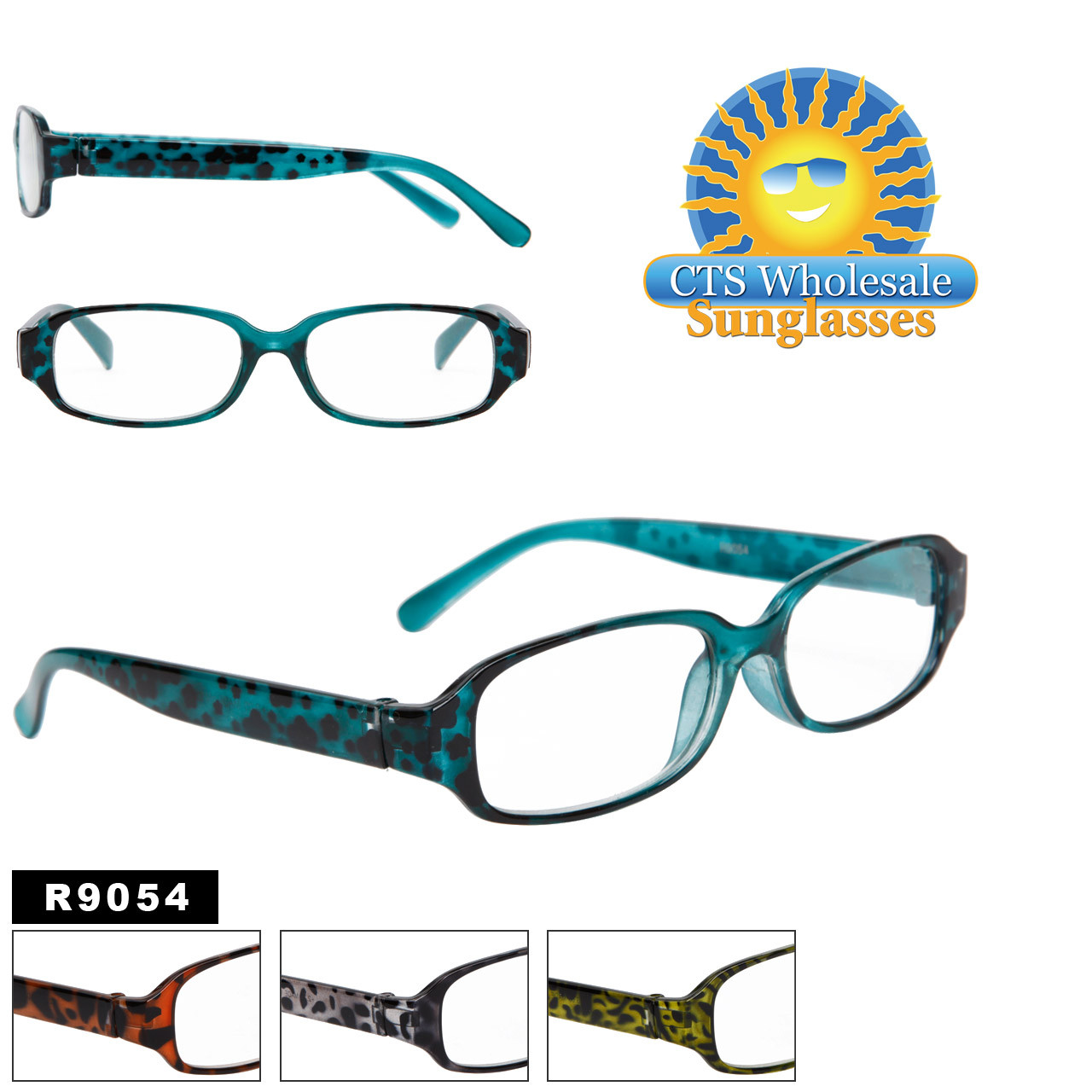 Reading Glasses - R9054 (12 pcs.) Assorted Colors ~ Lens Strengths +1.00—+3.50