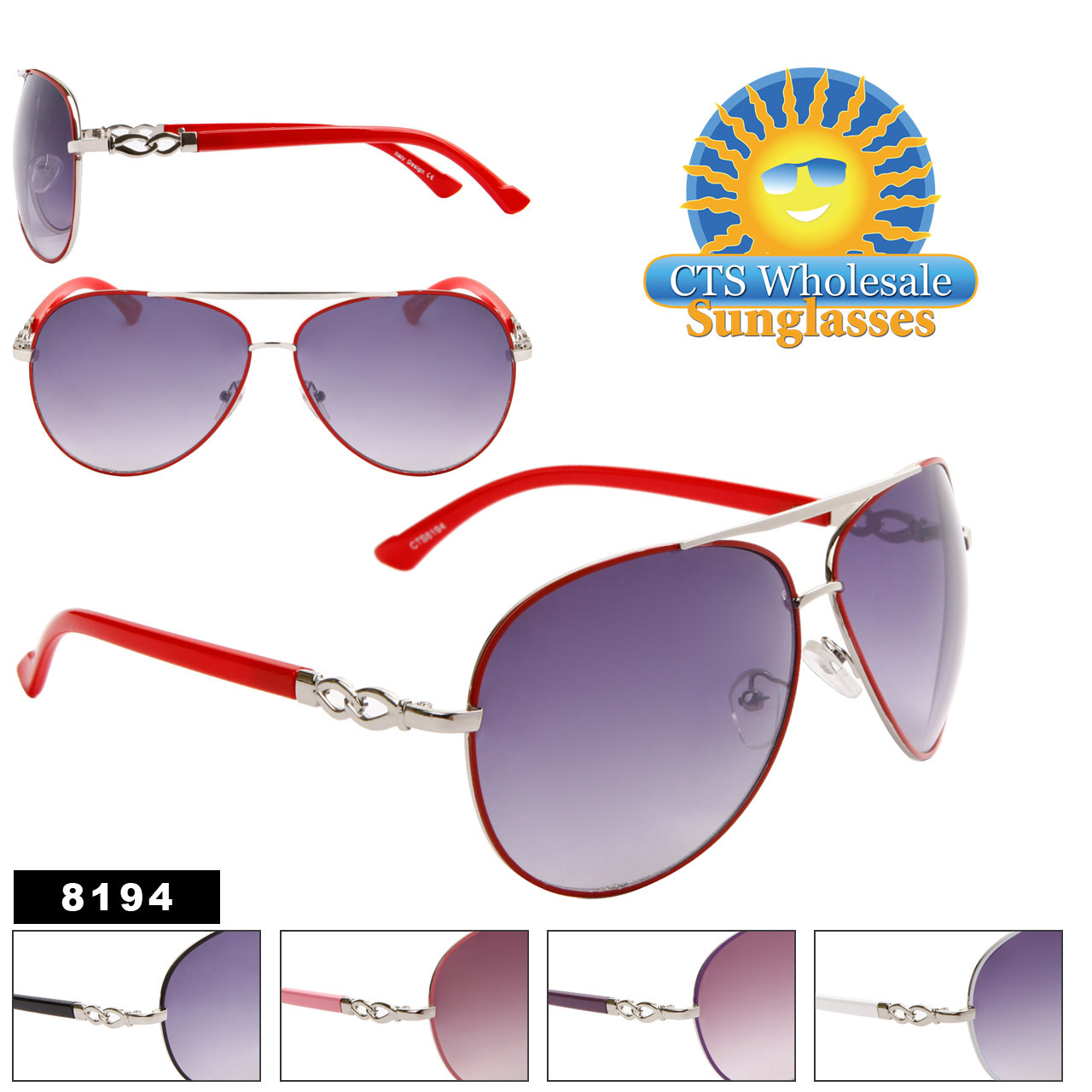 Wholesale Women's Aviator Sunglasses 8194
