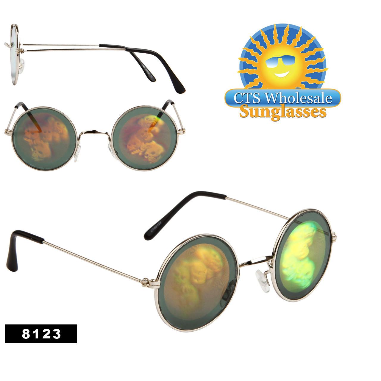 Skulls Hologram Sunglasses Wholesale - 8123