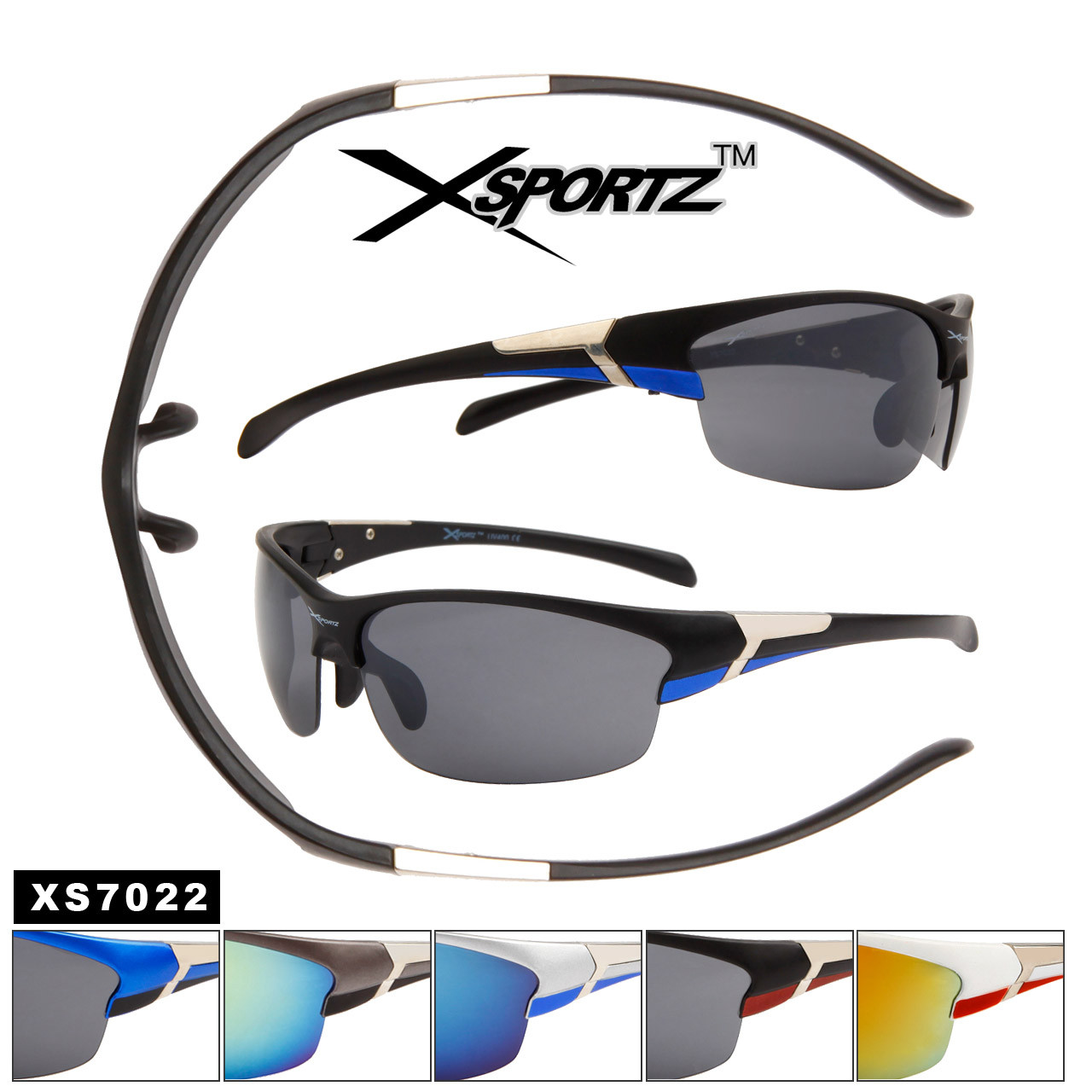 Xsportz™ Wholesale Sport Sunglasses XS7022