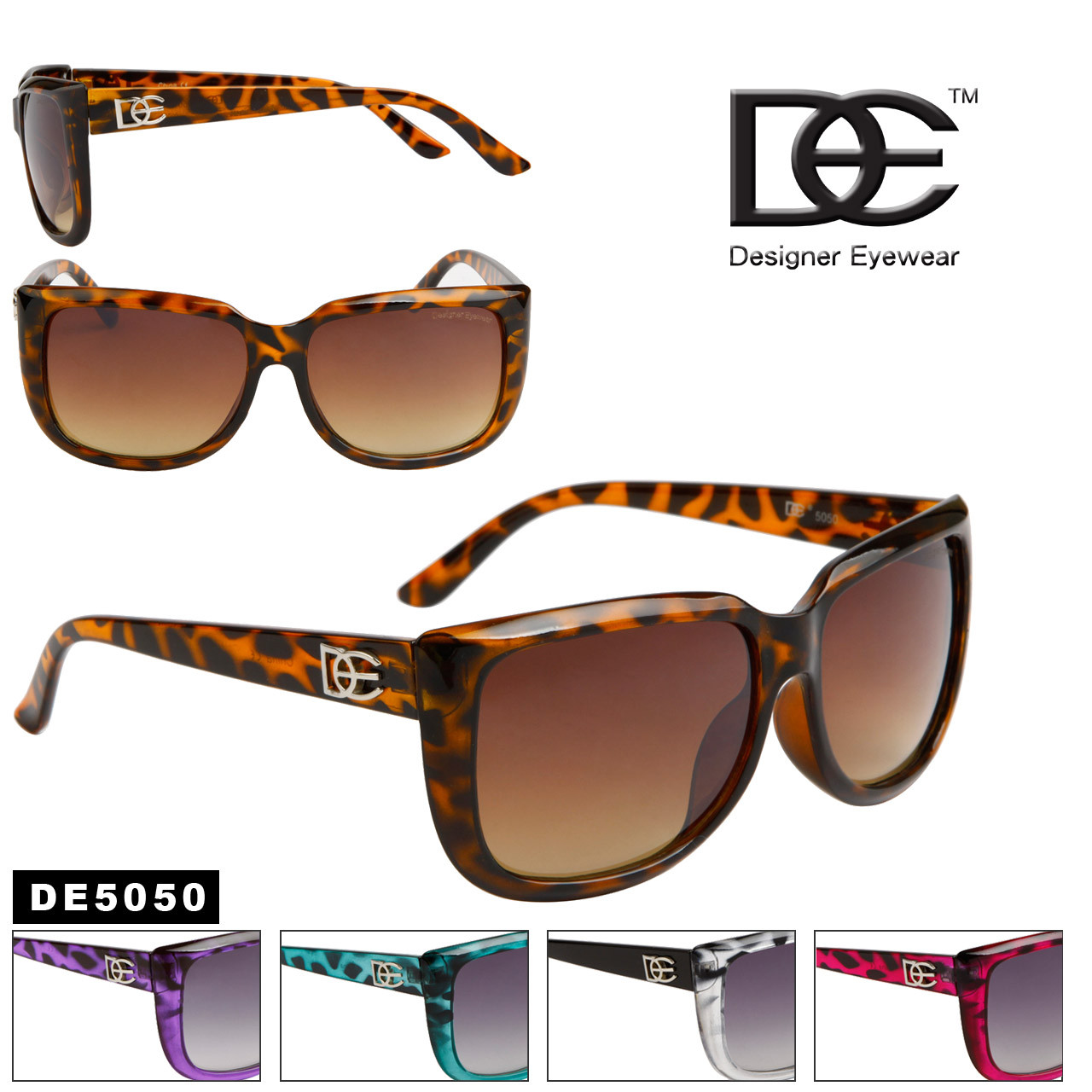 DE™ Wholesale Designer Sunglasses - DE5050 (Assorted Colors) (12 pcs.)