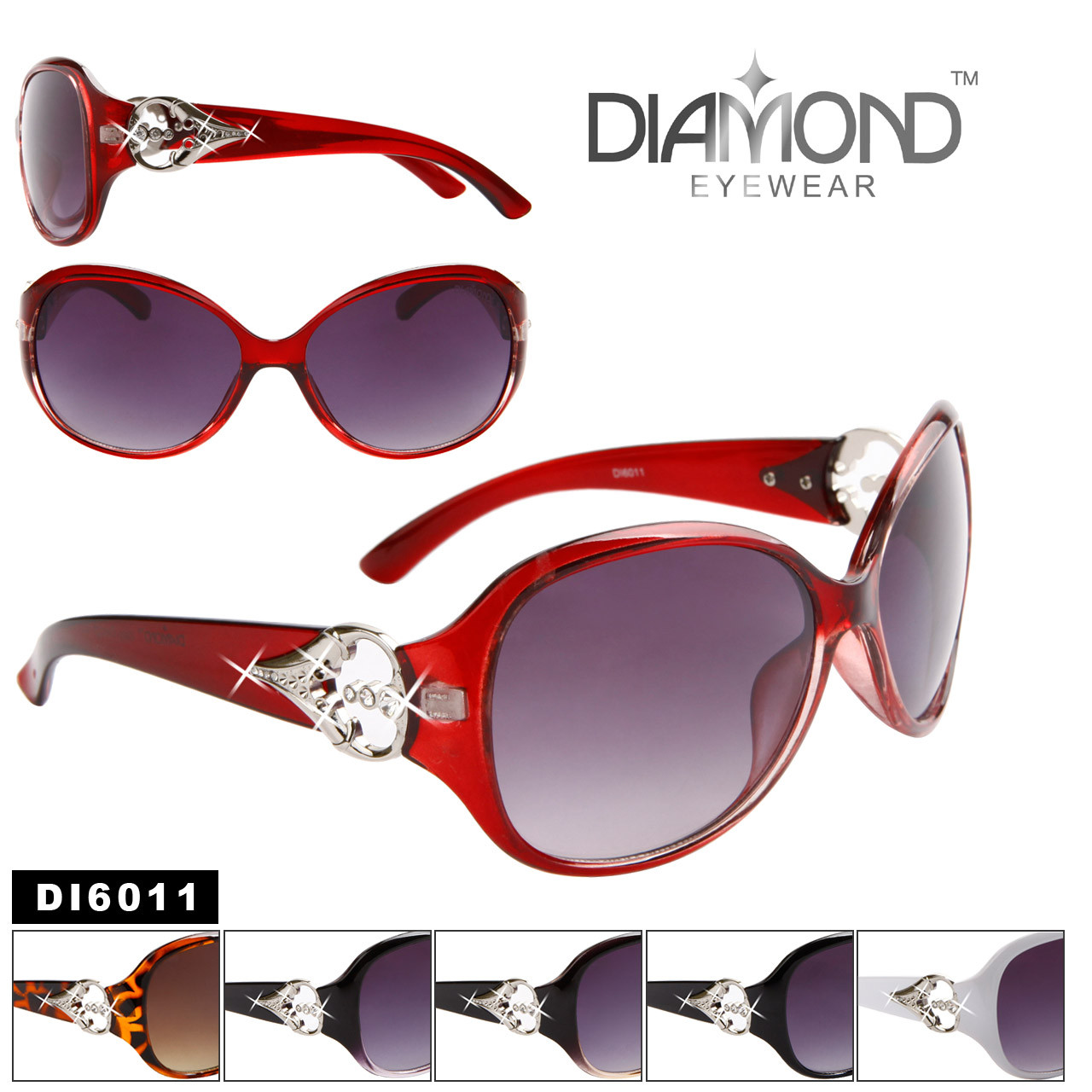 Wholesale Diamond™ Eyewear Sunglasses - DI6011 (Assorted Colors) (12 pcs.)