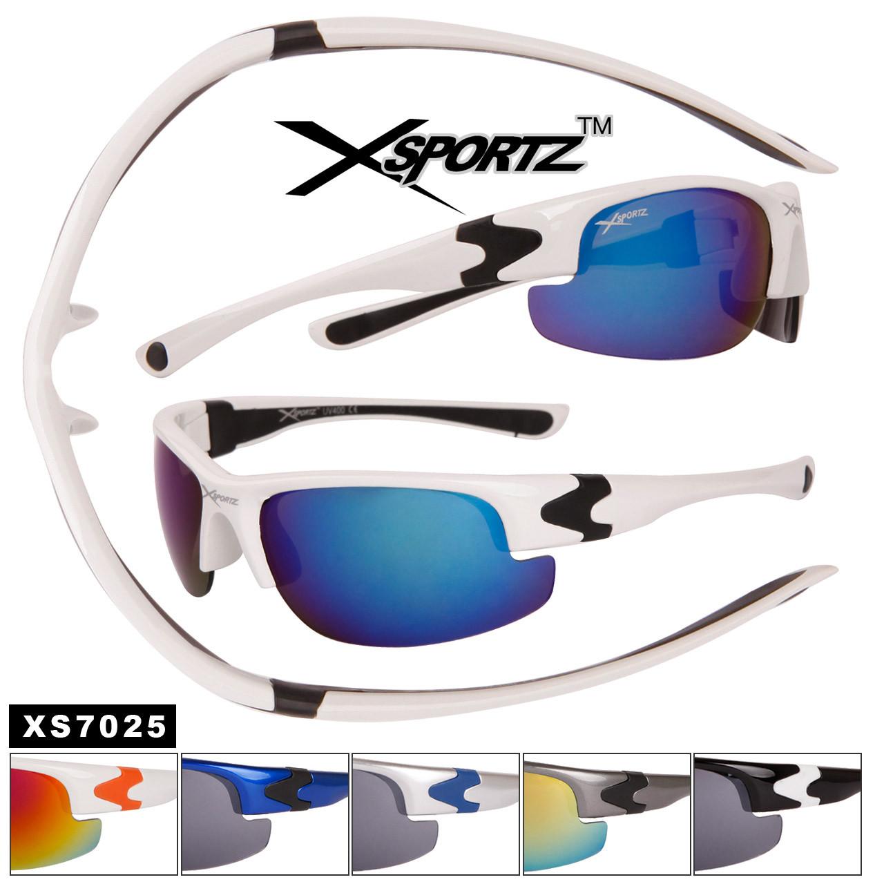 Bulk Sport Sunglasses Xsportz™ - Style #XS7025 (Assorted Colors) (12 pcs.)