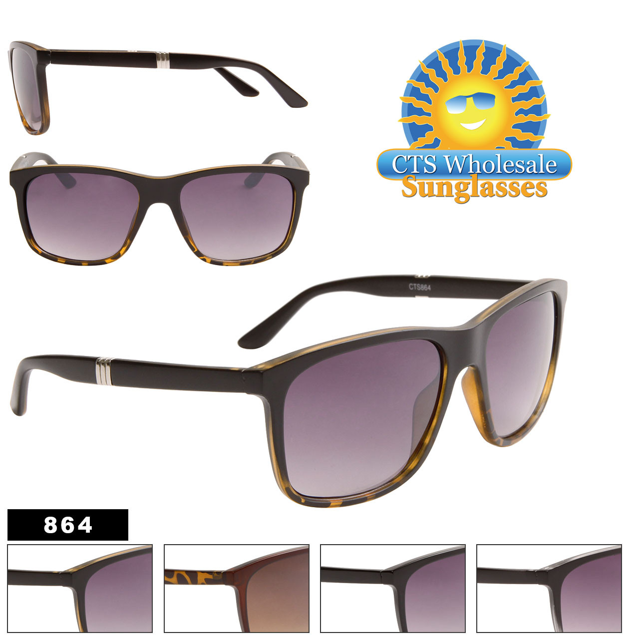 Men's Wholesale Sunglasses - Style #864
