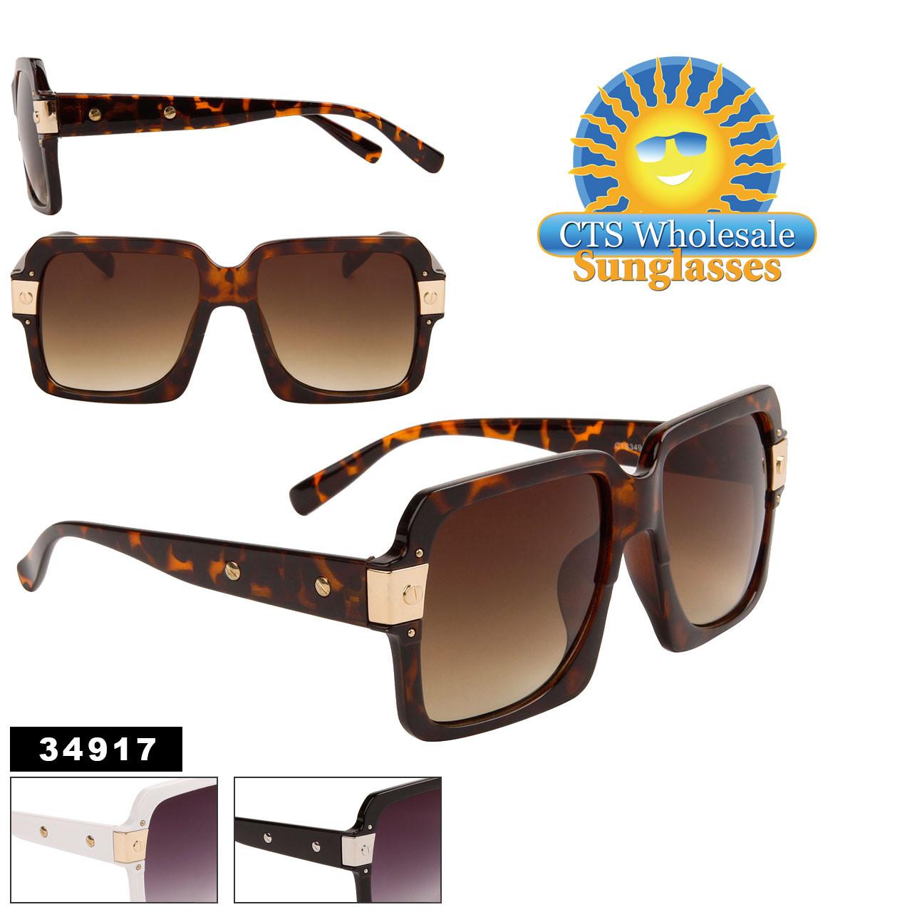 Fashion Sunglasses in Bulk - Style #34917 (Assorted Colors) (12 pcs.)