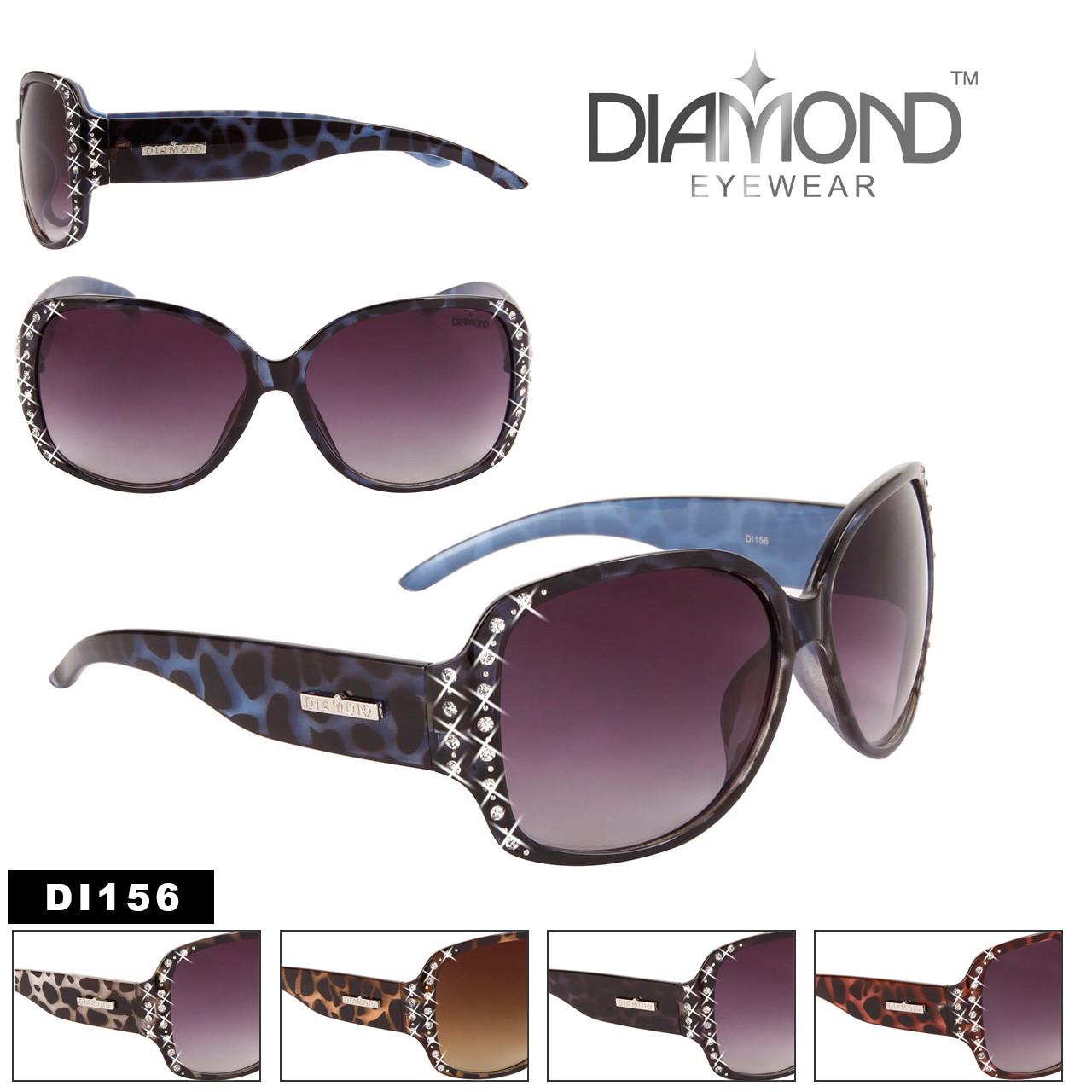 Diamond™ Eyewear Bulk Rhinestone Sunglasses - Style #DI156 (Assorted Colors) (12 pcs.)
