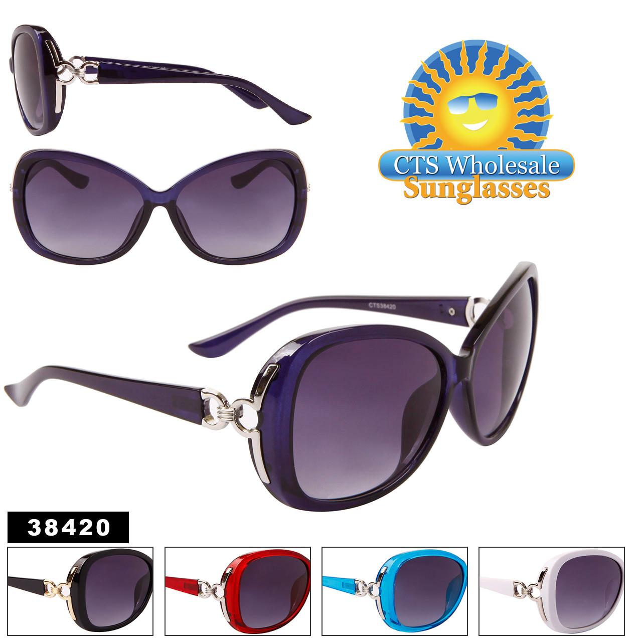 Women's Fashion Sunglasses Wholesale - Style #38420 (Assorted Colors) (12 pcs.)