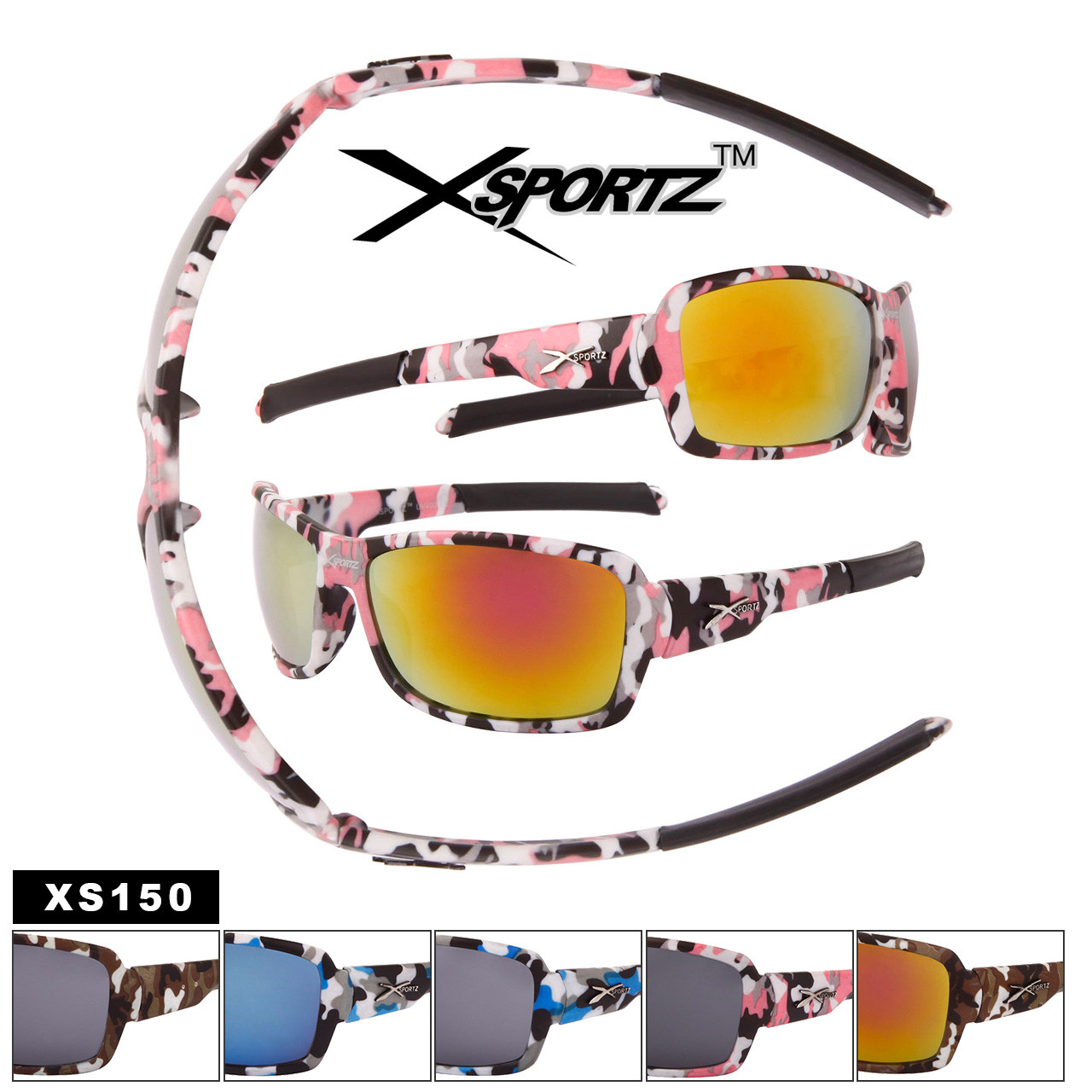 Xsportz™ Camouflage Sports Sunglasses Wholesale - Style #XS150