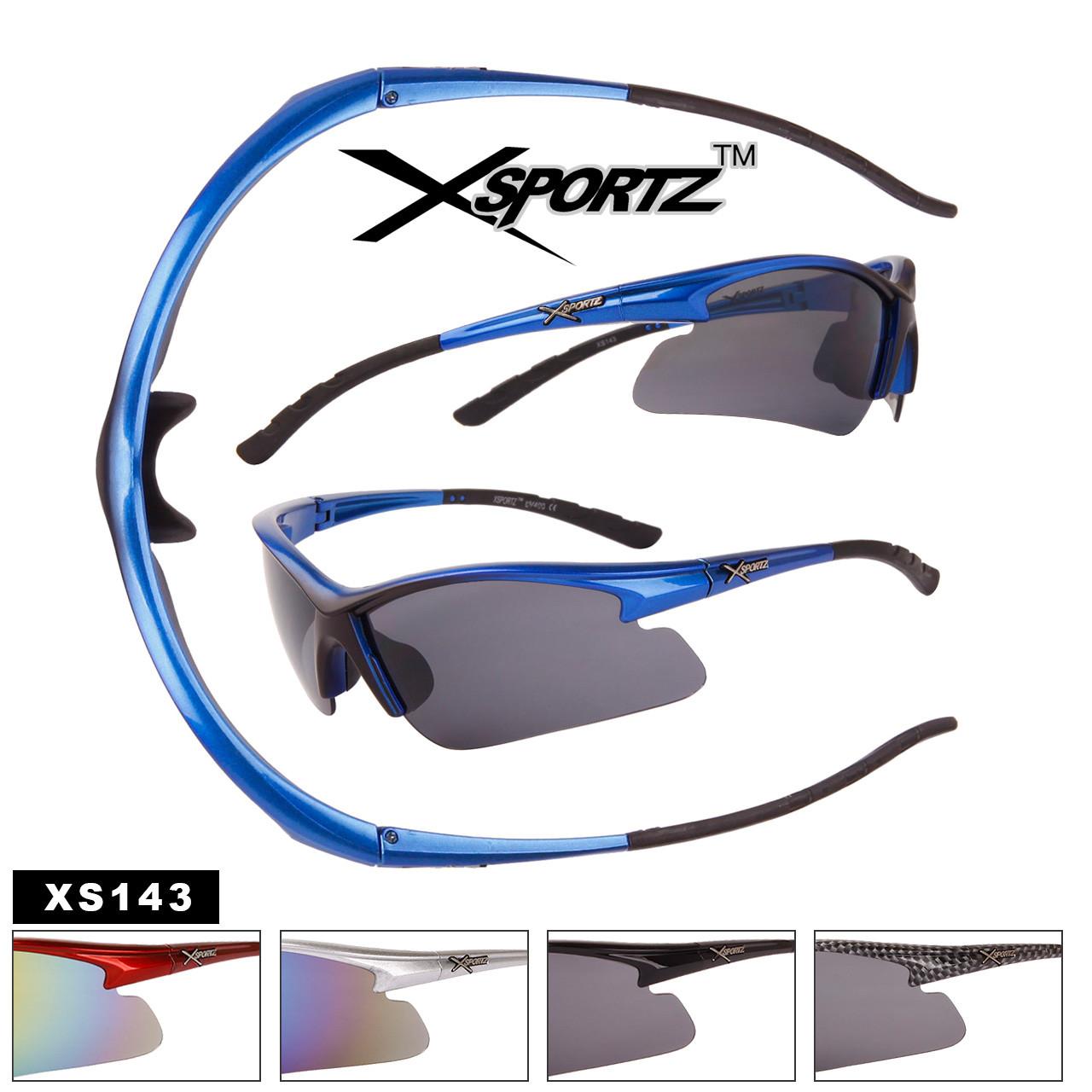 Xsportz™Wholesale Sport Sunglasses - Style #XS143 (Assorted Colors) (12 pcs.)
