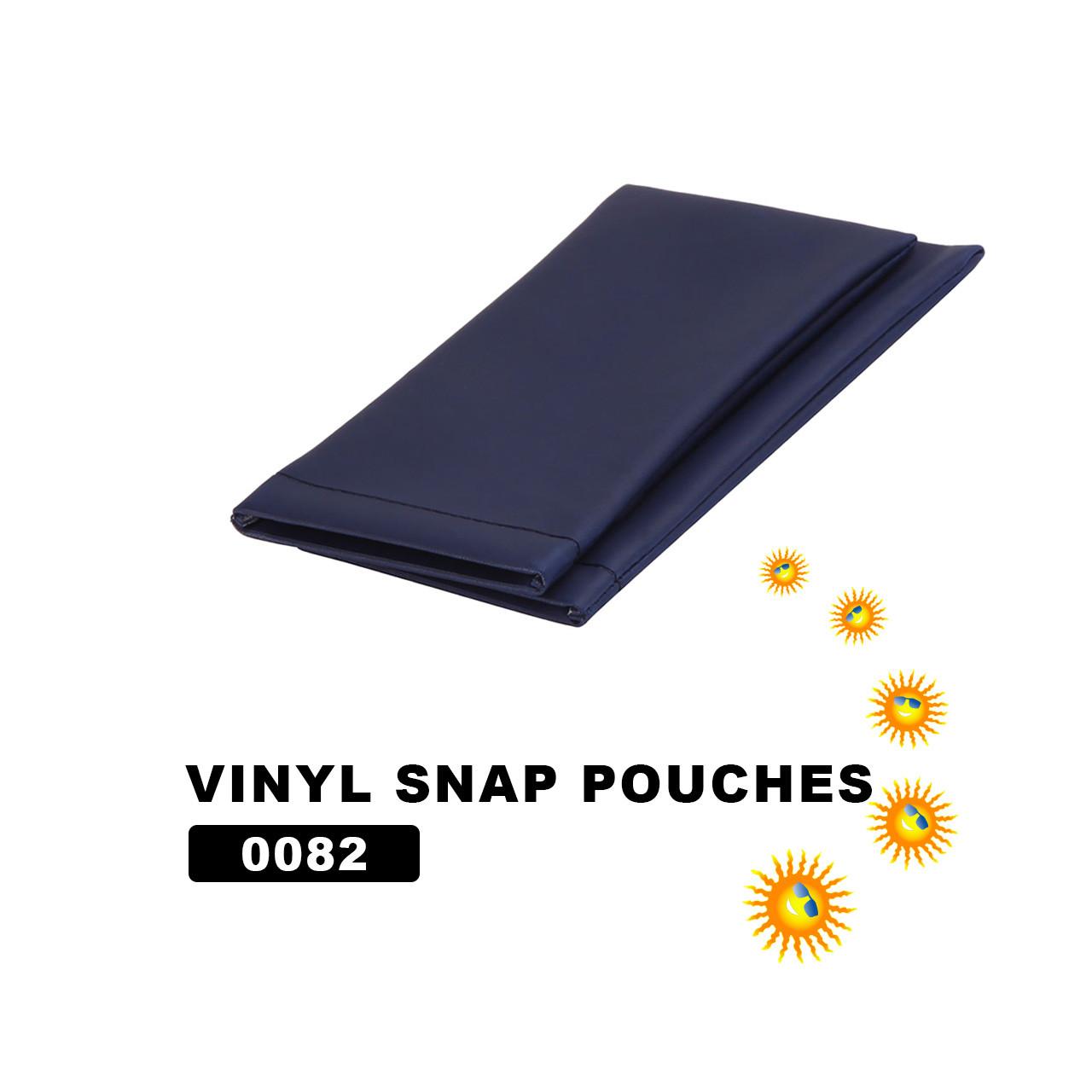 Wholesale Vinyl Snap Pouches ~ Navy Blue ~ 0082 (12 pcs.)