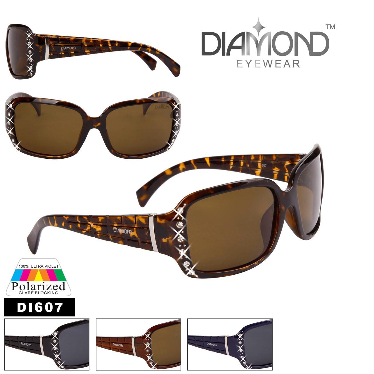 Diamond™Eyewear Polarized Rhinestone Sunglasses - Style #DI607