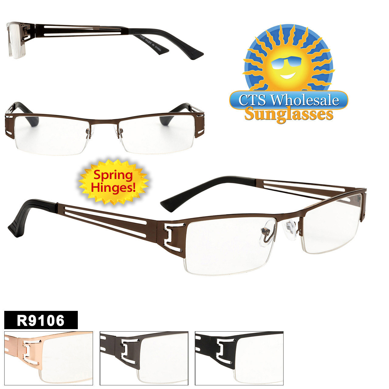 Metal Reading Glasses Wholesale - R9106