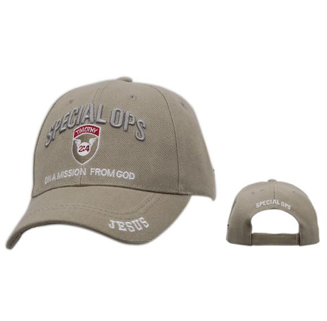 "Christian ""Special Ops"" Baseball Cap~Beige"