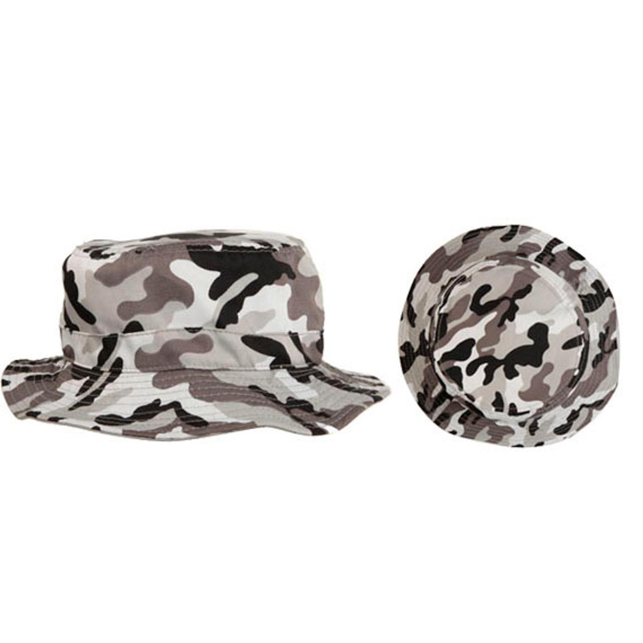 Grey Camo Fishing Hat