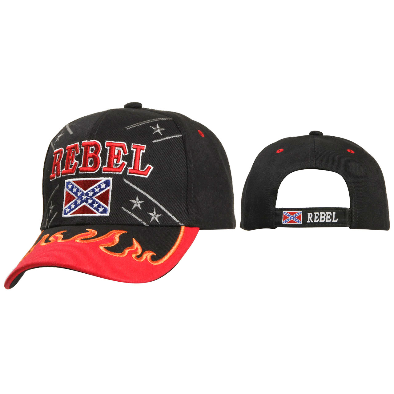 Caps Wholesale Rebel with Flames