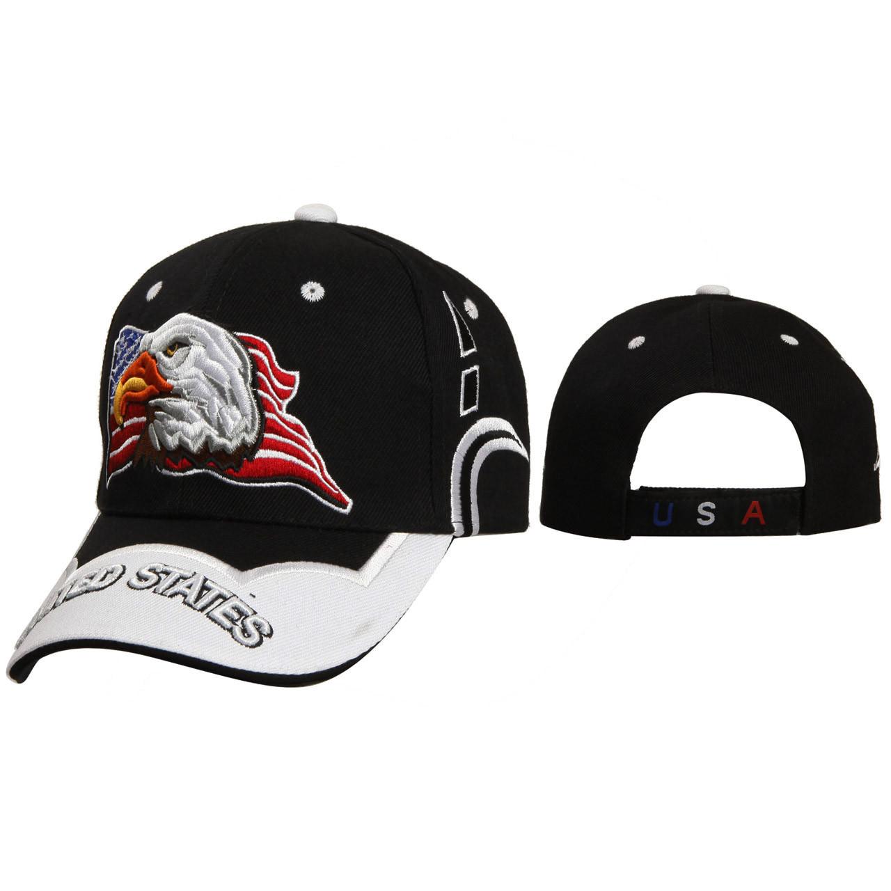 """Baseball Caps Wholesale """"United States"""" C5213 Black"""