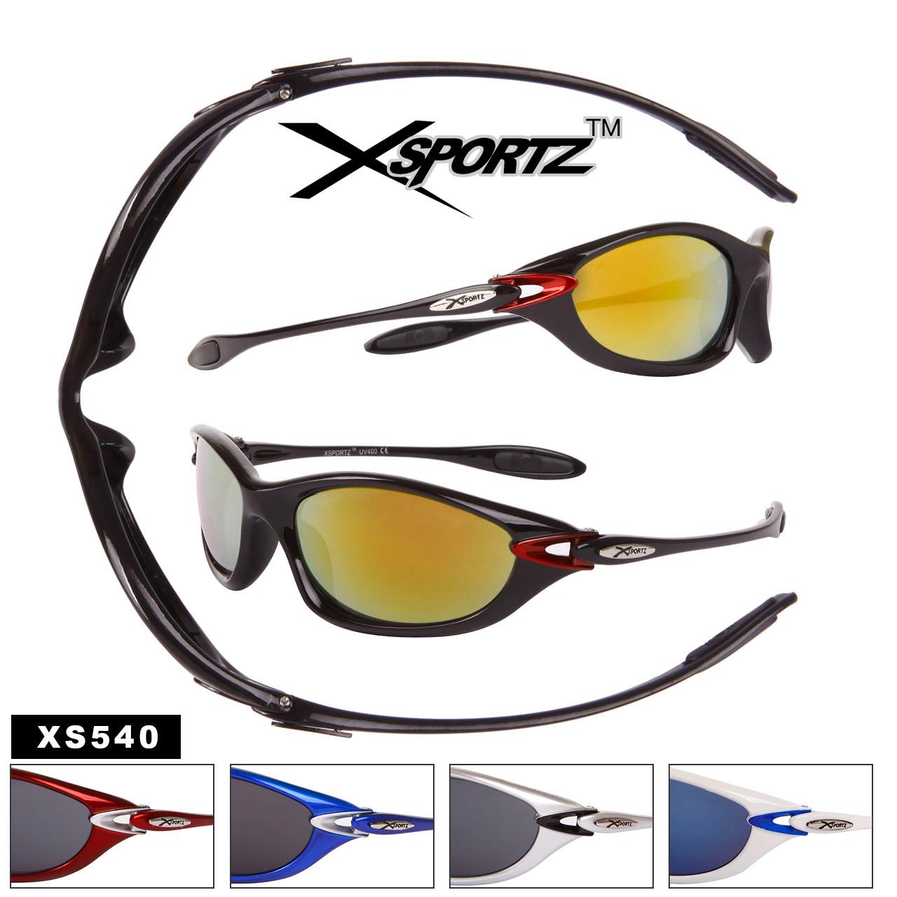 Xsportz™ Bulk Sports Sunglass - Style #XS540 (Assorted Colors) (12 pcs.)