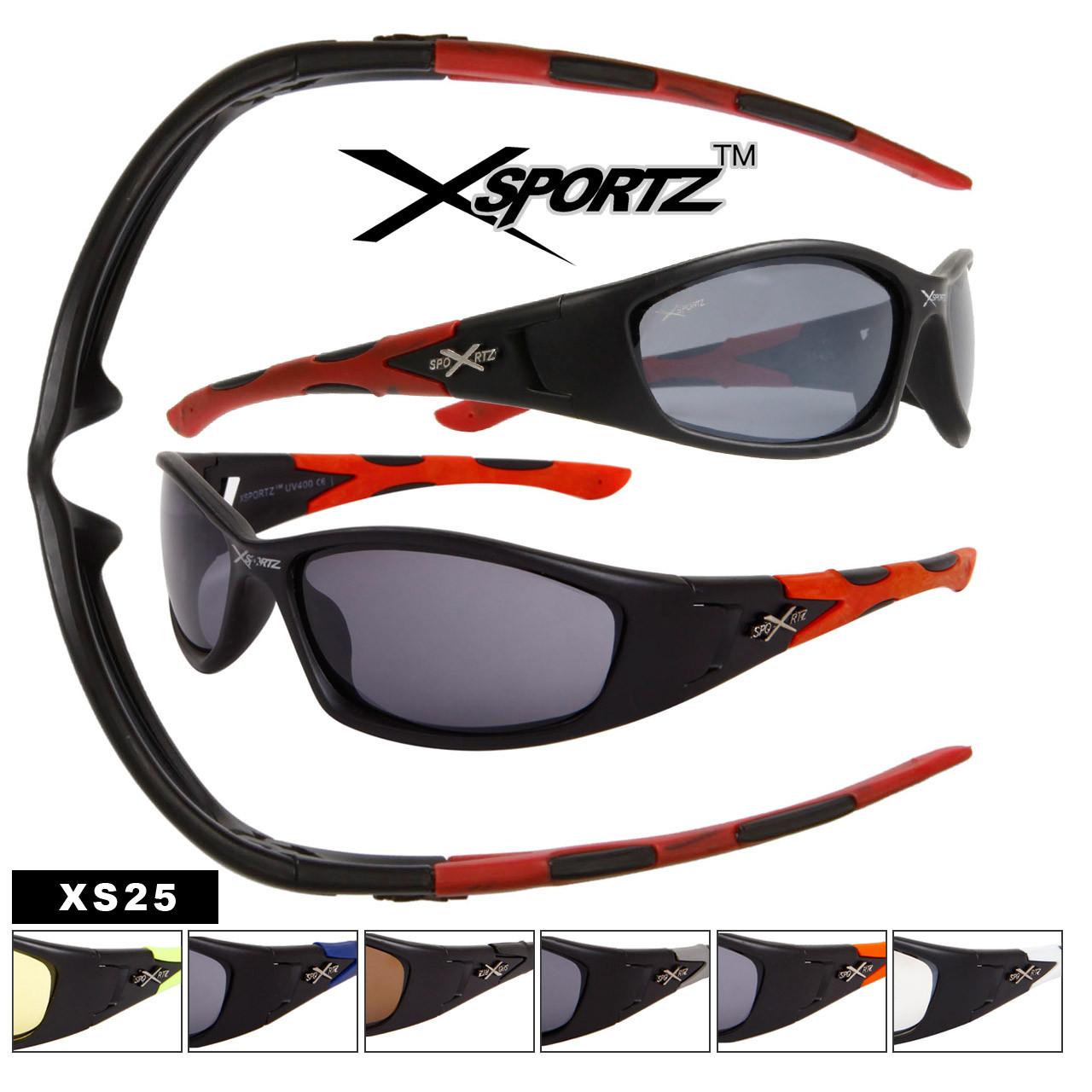 Xsportz™ Wholesale Sports Sunglass Style XS25 (12 pcs.) (Assorted Colors)