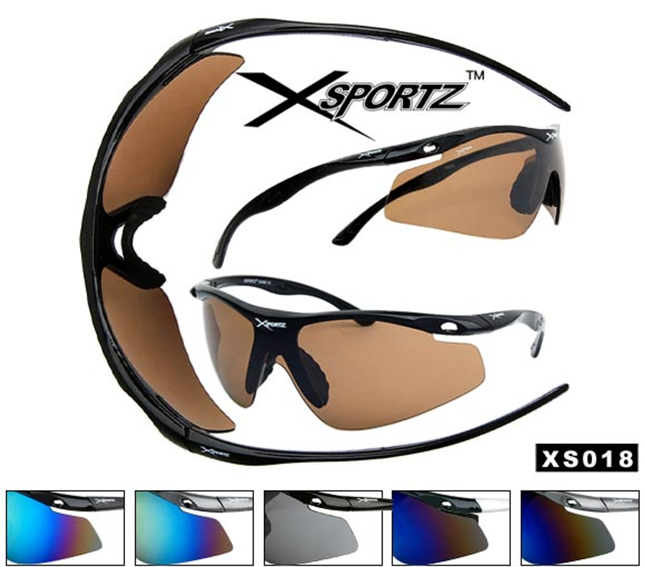 Xsportz Wholesale Sunglasses XS18 (Assorted Colors) (12 pcs.)