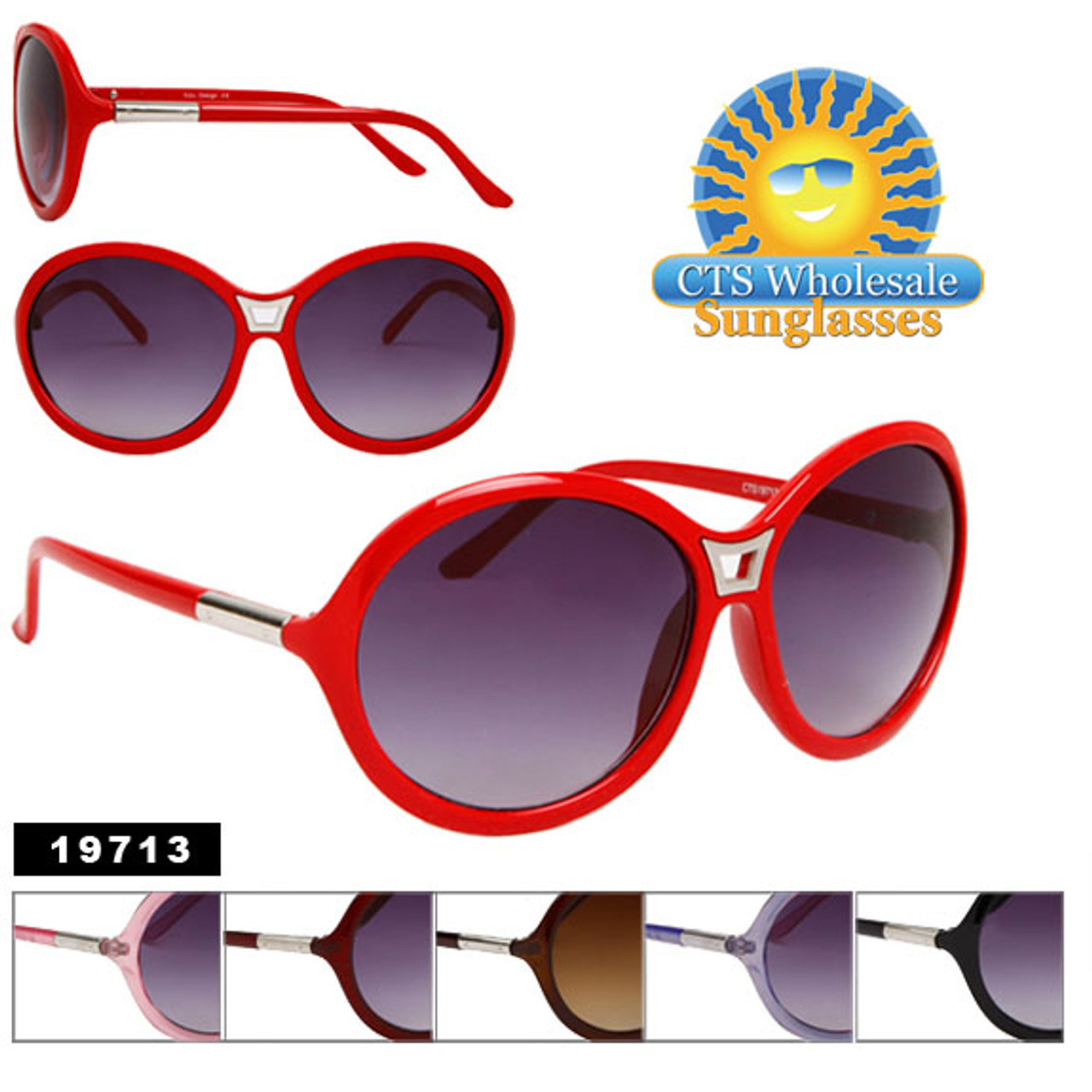 Fashion Sunglasses 19713 (Assorted Colors) (12 pcs.)