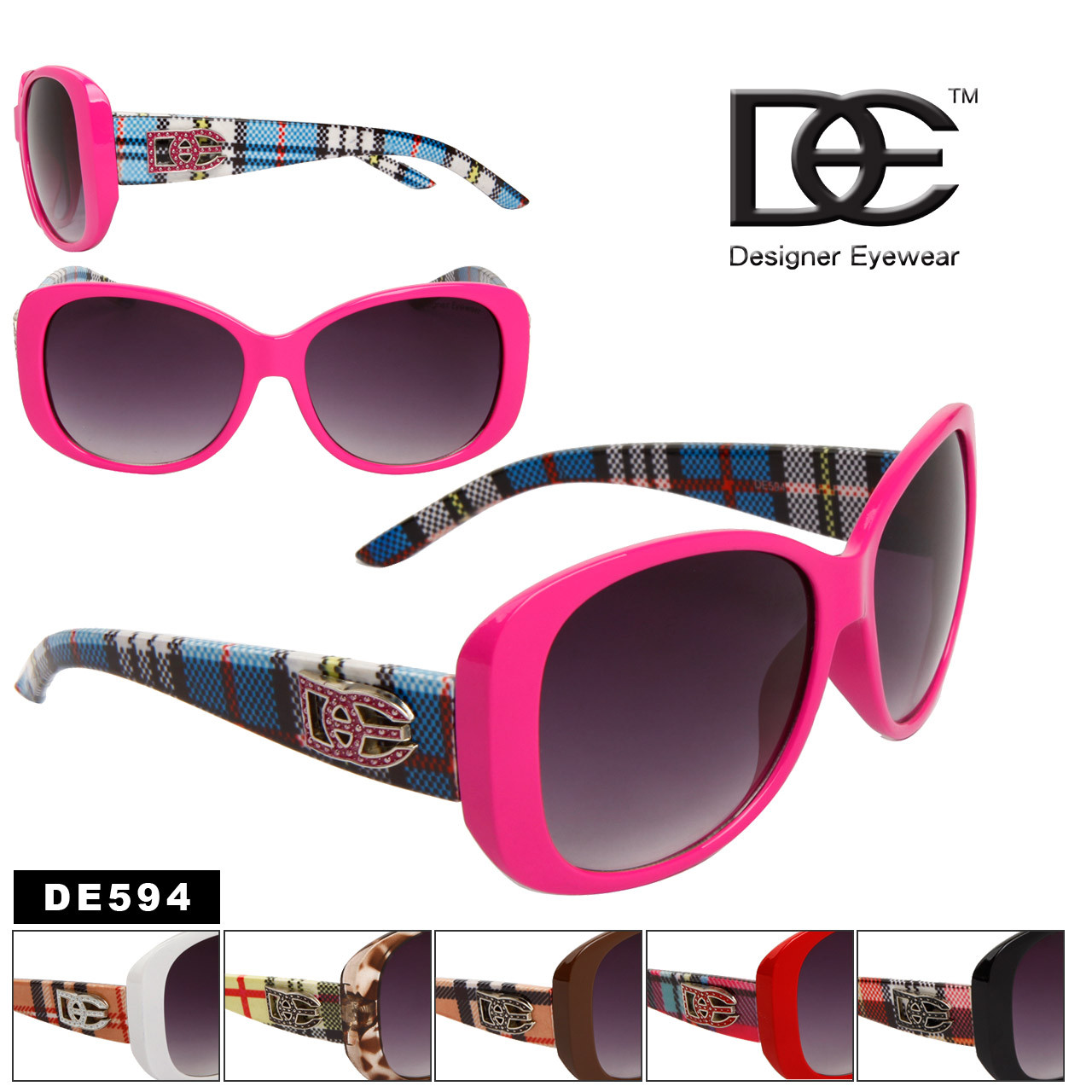 DE™ Women's Fashion Sunglasses Wholesale - Style # DE594