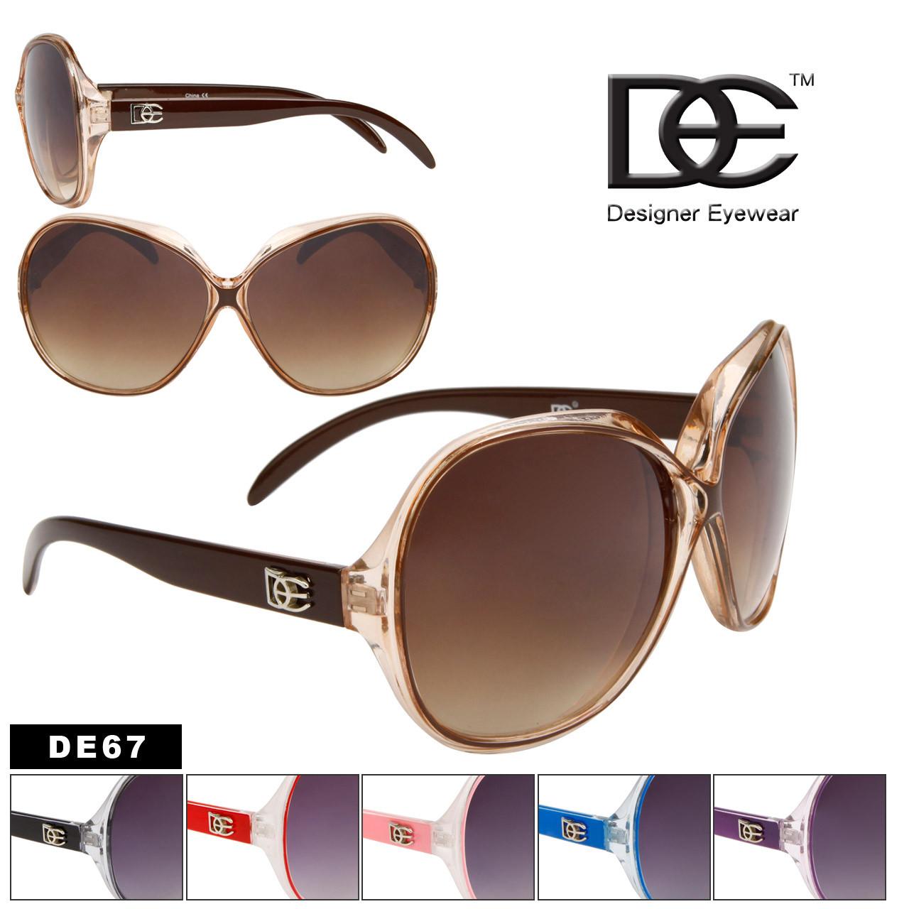 Women's Wholesale Designer Sunglasses - DE67 (Assorted Colors) (12 pcs.)