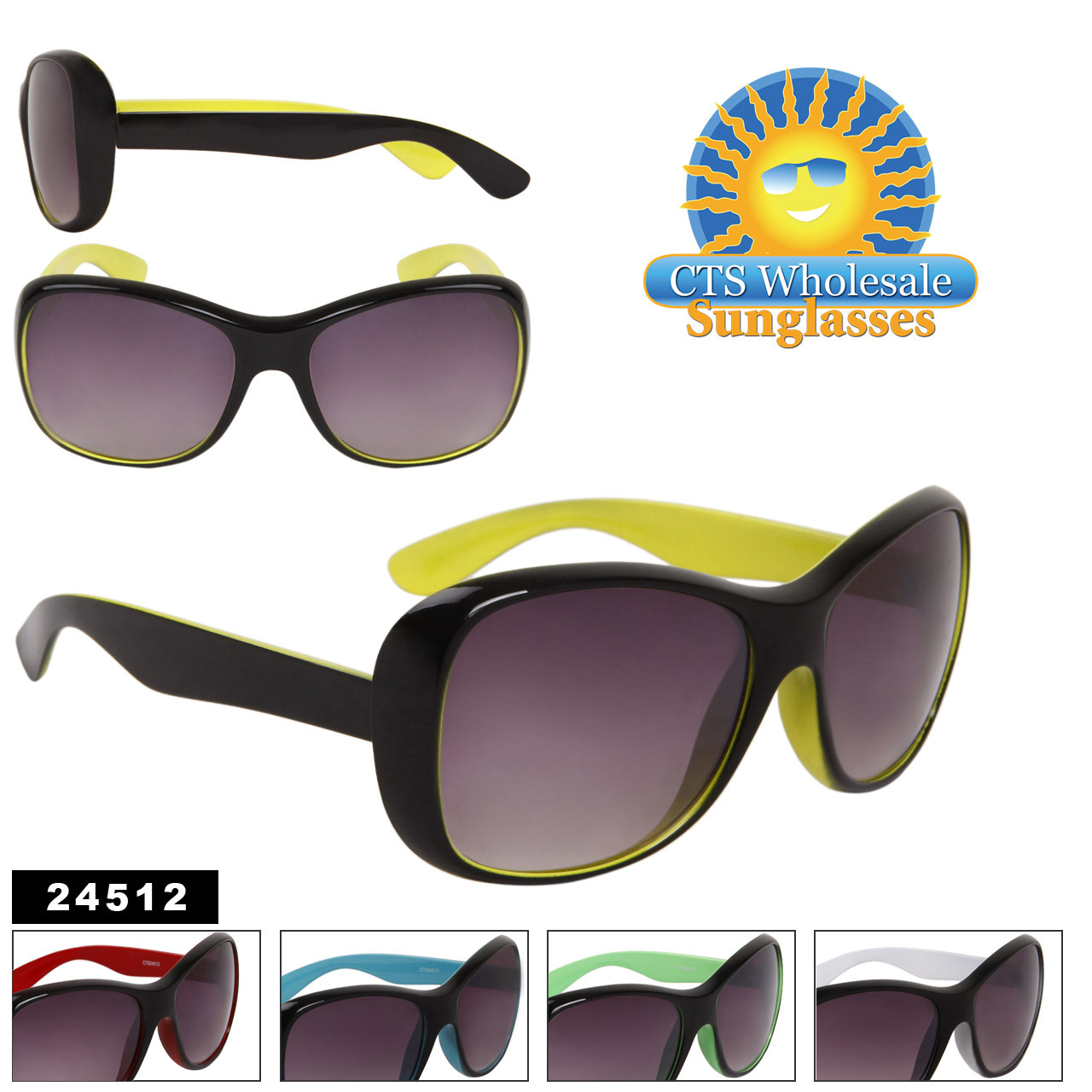 Fashion Sunglasses 24512 (Assorted Colors) (12 pcs.)