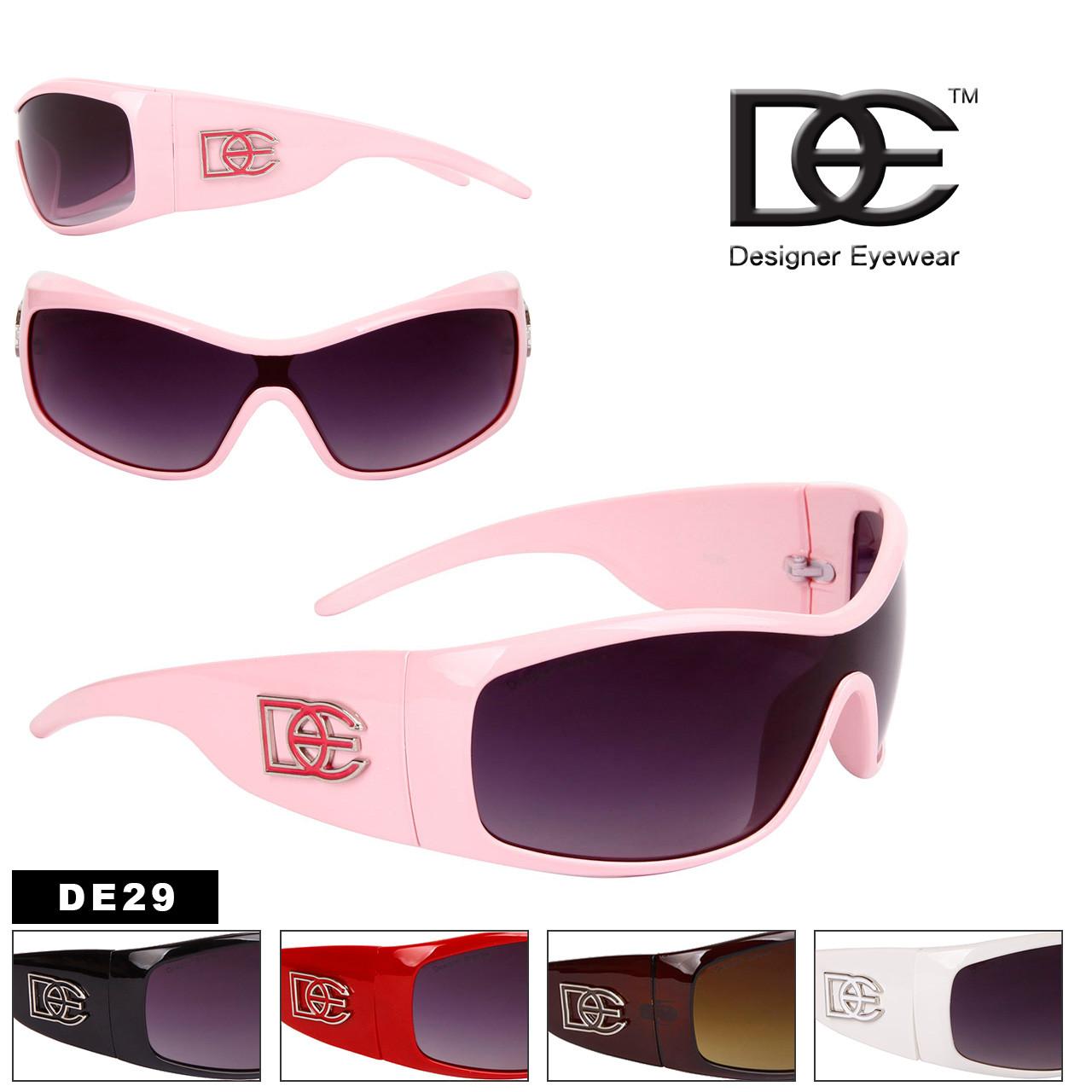 DE Designer Eyewear Single Piece Lens - Style #DE29 (Assorted Colors) (12 pcs.)
