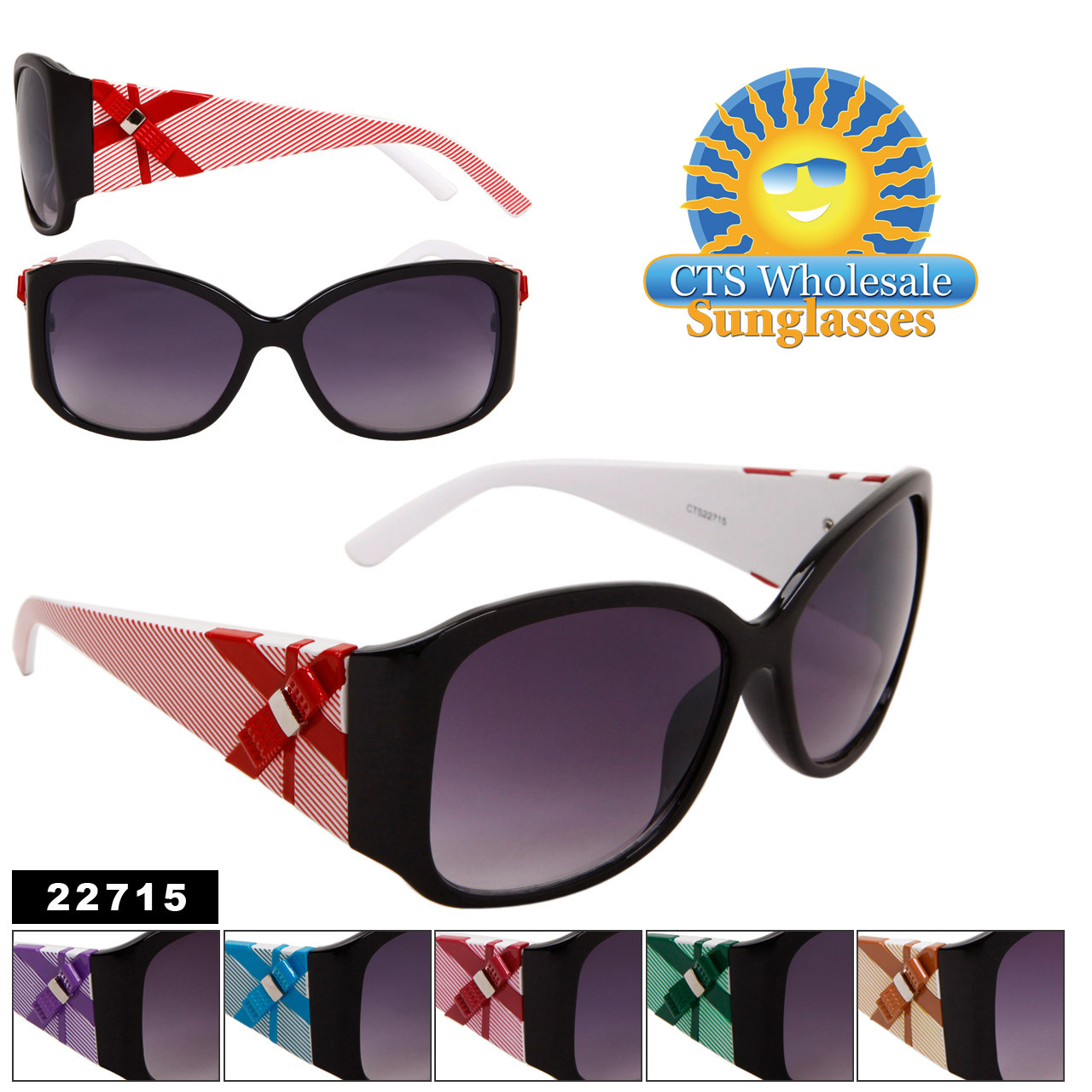 Wholesale Sunglasses with Bows 22715