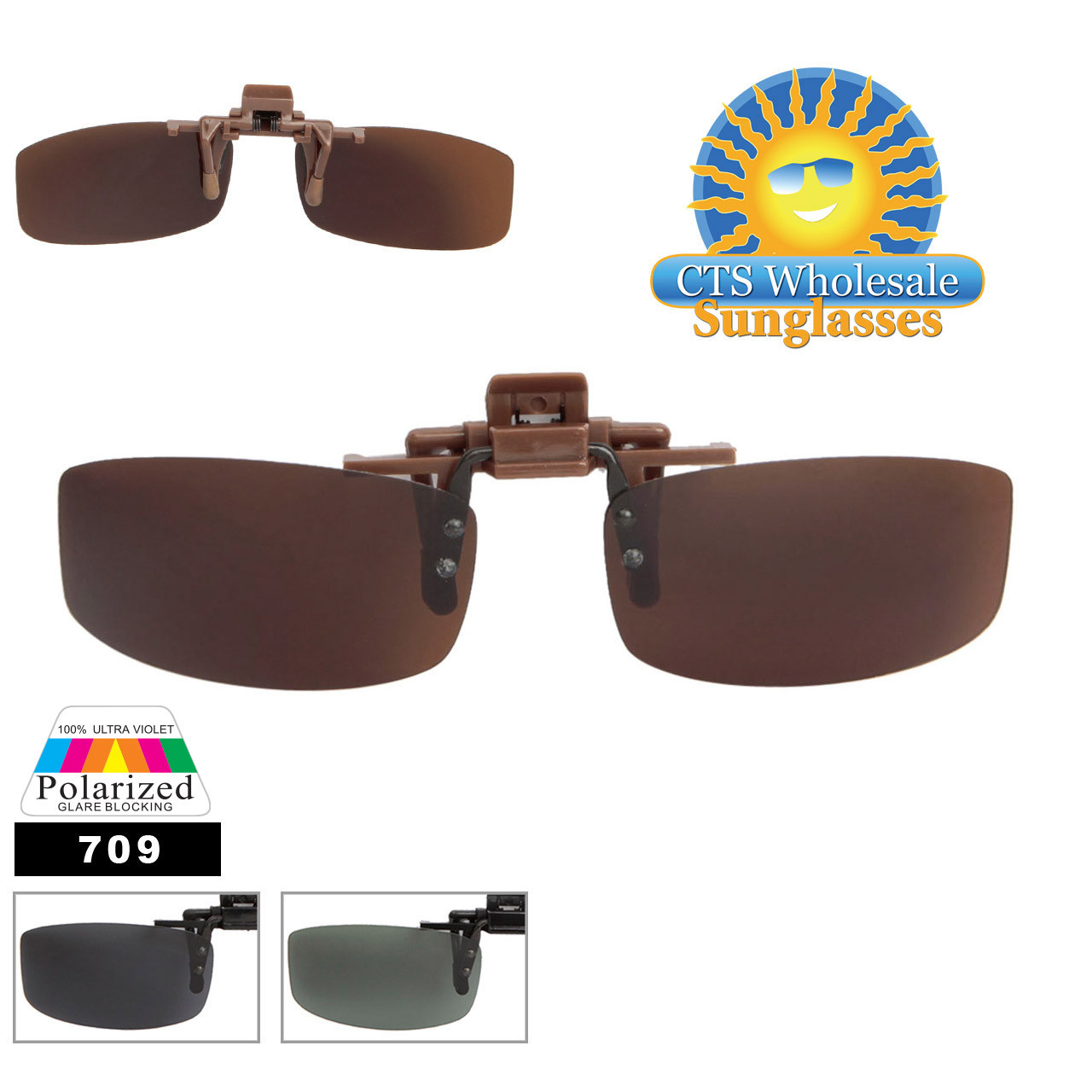 Wholesale Polarized Clip On Sunglasses 709
