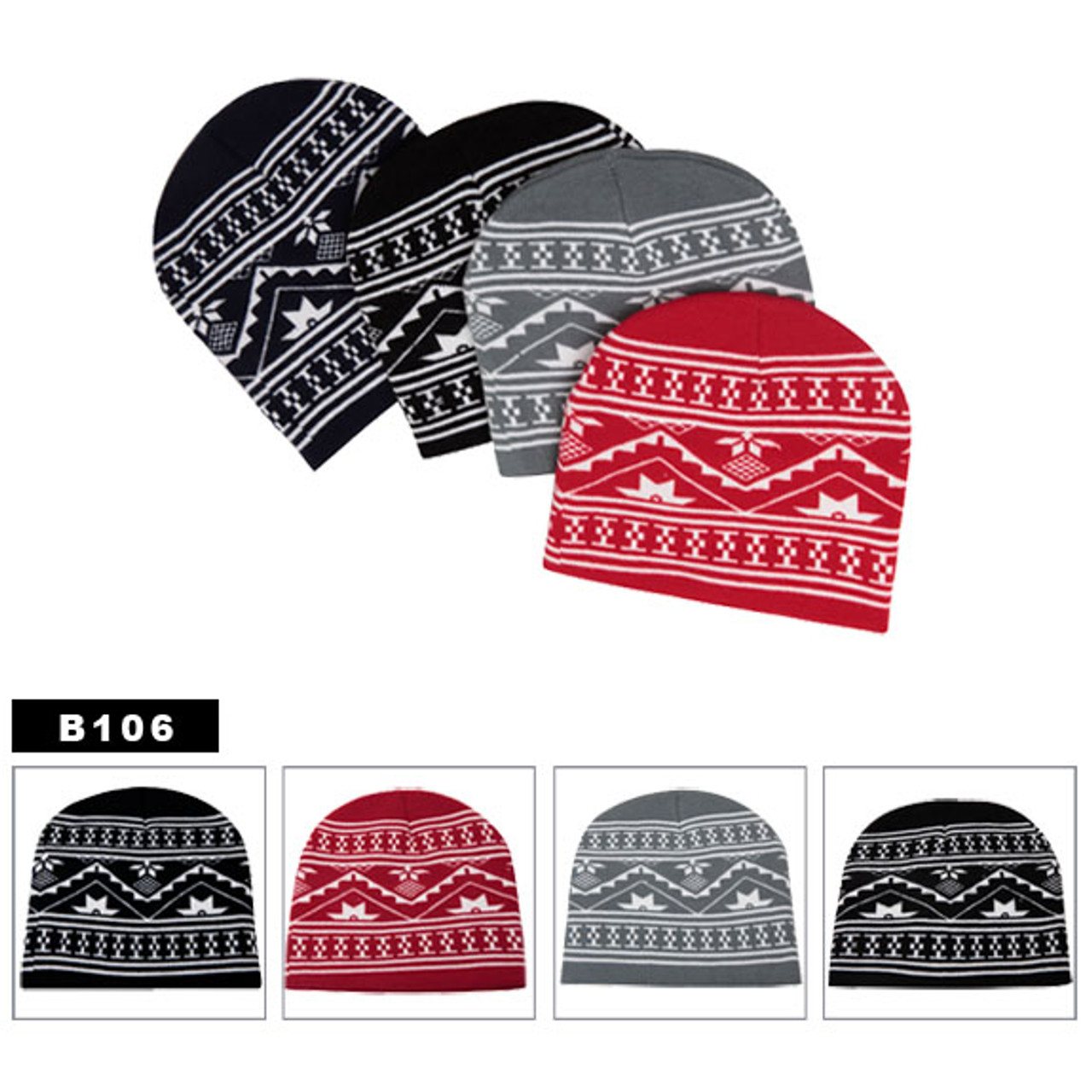 Wholesale Beanies Assorted Himalayan B106 (12 pcs.)