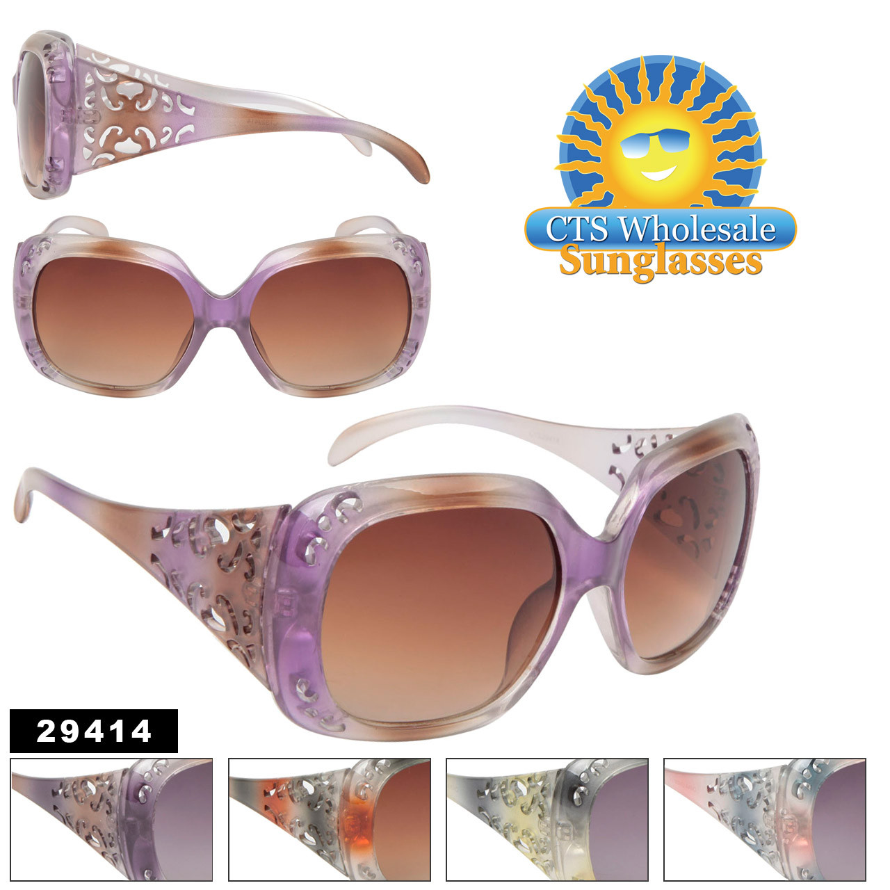 Women's Sunglasses 29414 (Assorted Colors) (12 pcs.)