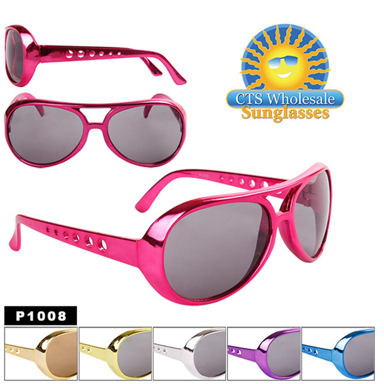 """Wholesale ~ """"Elvis"""" ~ Party Sunglasses P1008 (Assorted Colors) (12 pcs.)"""