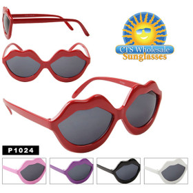 Party Glasses ~ Kiss Lips ~ P1024 (12 pcs.) (Assorted Colors)