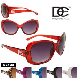 DE™ Designer Eyewear Wholesale Sunglasses - Style # DE122 (Assorted Colors) (12 pcs.)