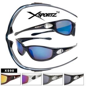 Xsportz Wholesale Sunglasses XS98 Sporty Style (Assorted Colors) (12 pcs.)