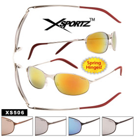 Wholesale Metal Sport Sunglasses - Style #XS506 Spring Hinge