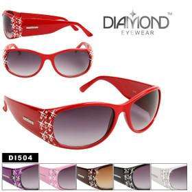 Diamond Eyewear DI504 Rhinestone Sunglasses (Assorted Colors) (12 pcs.)