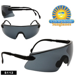 Safety Glasses ~ Tinted Lens ~ S112 (12 pcs.) Adjustable Arms