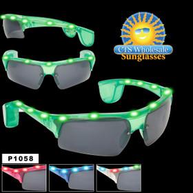 Flashing Sunglasses  ~ P1058  (Assorted Colors) (12 pcs.)
