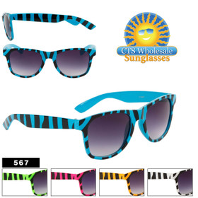 California Classic Sunglasses by the Dozen - Style #567 (Assorted Colors) (12 pcs.)