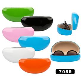 Sunglass Hard Cases ~ Assorted Colors 7059 (12 pcs.)