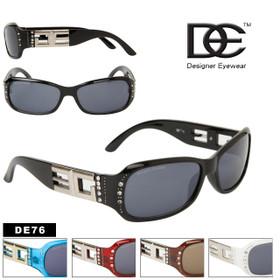 DE Designer Eyewear DE76 Sunglasses with Rhinestones (Assorted Colors) (12 pcs.)