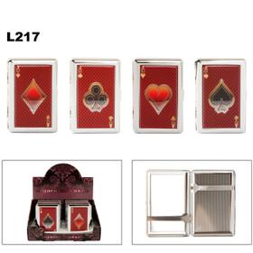 Cigarette Cases L217 (12 pcs.) Fit 100's ~ Ace of Suit