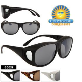 Wholesale Over Glasses Sunglasses 6025 (12 pcs.)  (Assorted Colors)